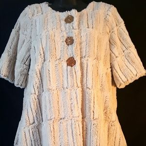 Anthropologie Aunt Wanda Faux Fur Coat Sweater